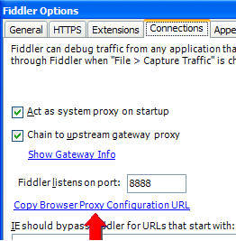 Fiddler Web Debugger - Configuring clients
